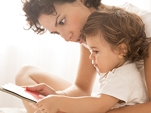 Mother and Baby Reading Together