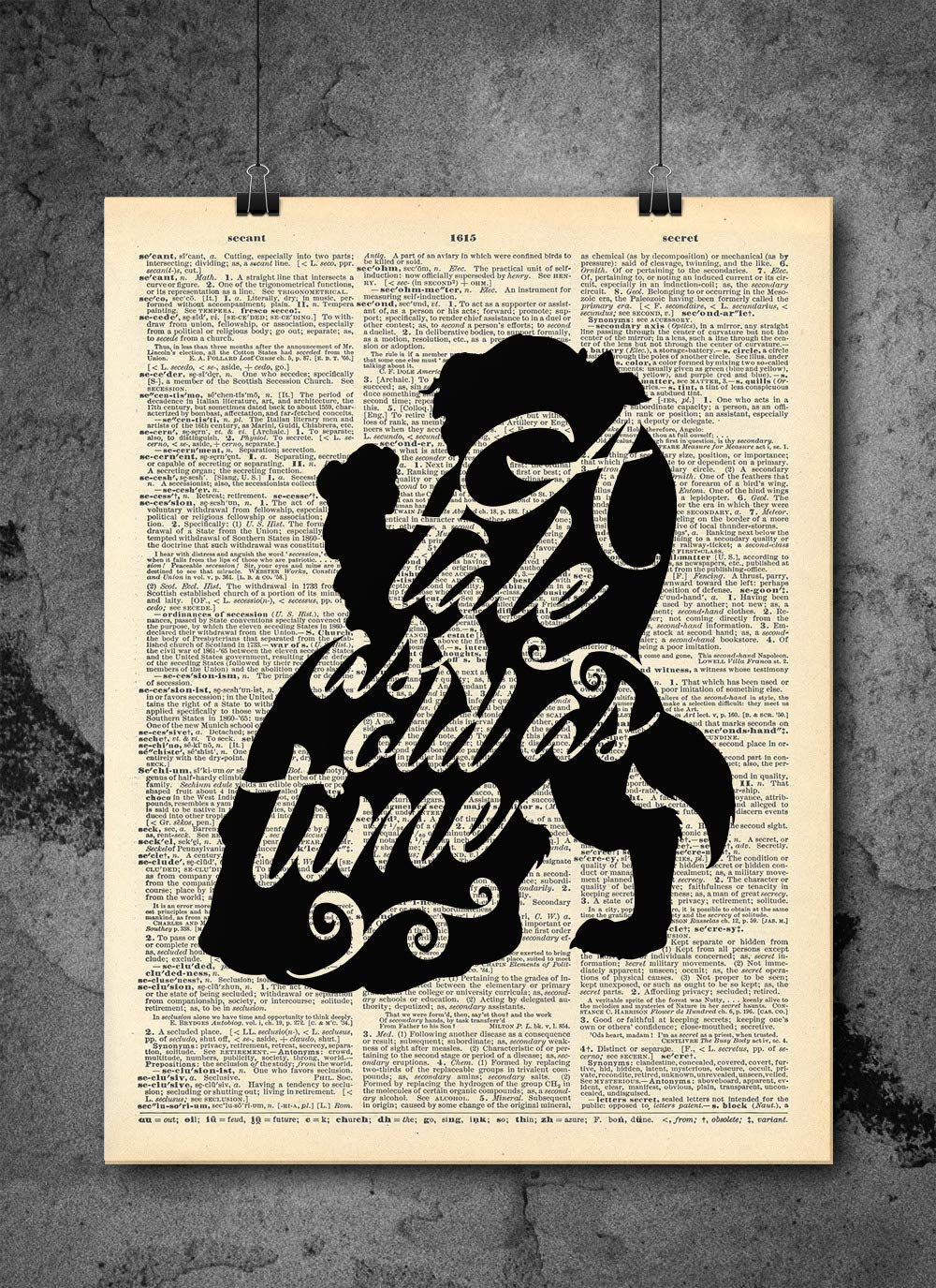 Beauty and the Beast Dictionary Print